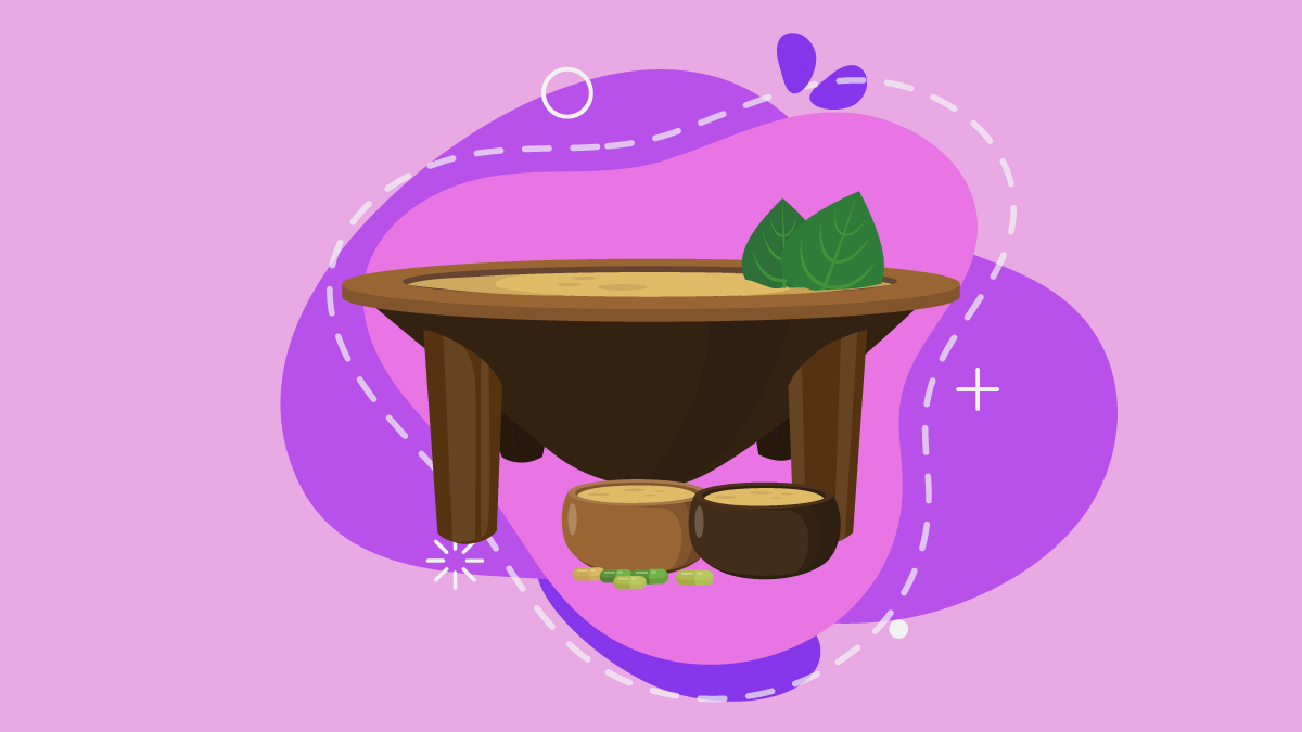 illustration of kava traditional maker